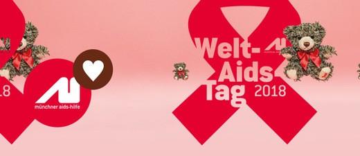 Flyer zum Weltaidstag, © Grafik der Münchner Aids-Hilfe