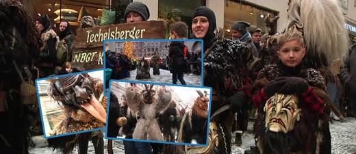 Der traditionelle Krampuslauf in München