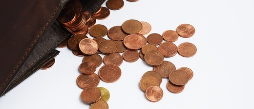 Ein paar übrige Cent im Geldbeutel, © Symbolbild