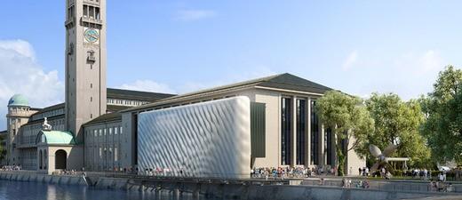 So soll die Fassade des Deutschen Museums in München ab 2020 aussehen., © Abbildung: Architekten Schmidt-Schicketanz und Partner GmbH
