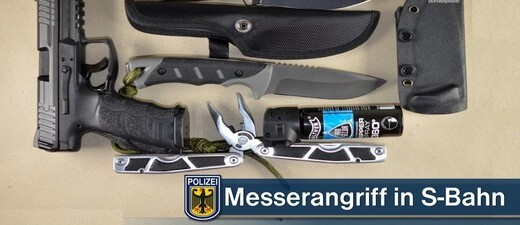 Messerangriff in S-Bahn, © Bundespolizei