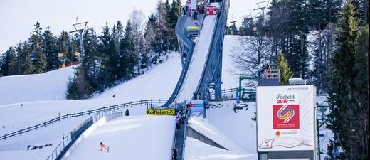 Die Skisprung-Schanze im WM-Ort Seefeld, © Olympiaregion Seefeld / Stephan Elsler