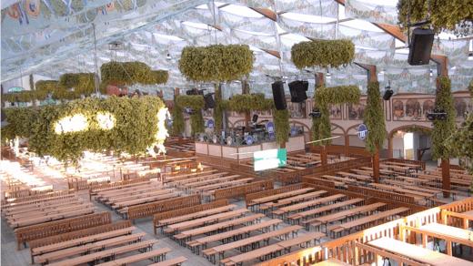 Standbild der Wiesn-Live-Webcam im Hofbräu Festzelt