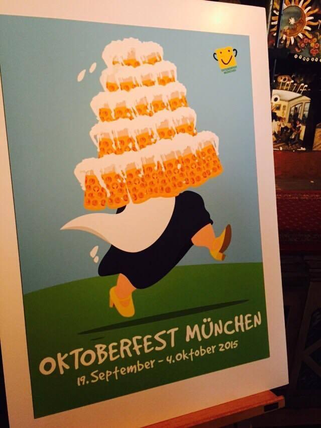 platz 2 wiesn oktoberfest plakat 2015