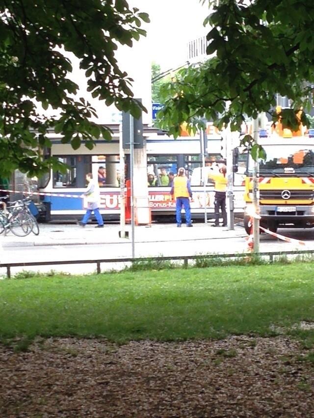 Tramunfall in der Gabelsbergerstraße
