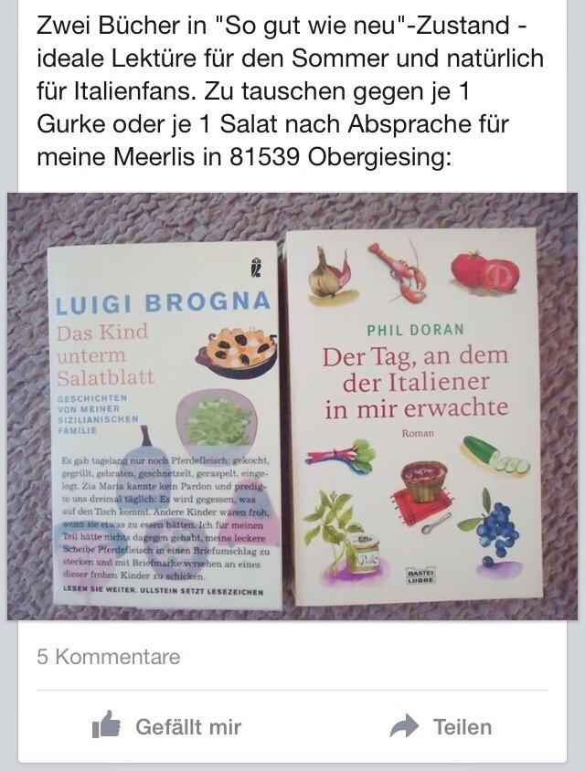 Facebook-Gruppe Bücherkreisel tauschen verschenken München, © Facebook-Gruppe Bücherkreisel tauschen verschenken München