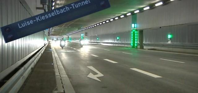 luise kiesselbach tunnel von innen, © Ende Juli wird in München der Luise-Kiesselbach-Tunnel eröffnet. Hier sehen Sie Ihn beim Test der Blitzer-Anlagen