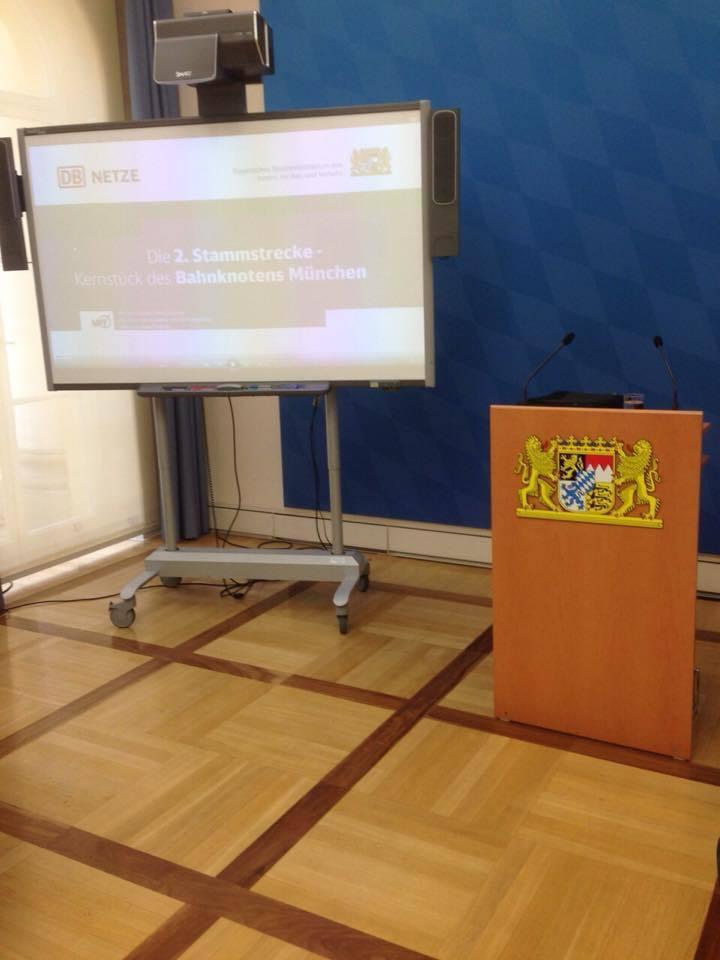 Podium der Pressekonferenz zur 2. S-Bahn-Stammstrecke, © Pressekonferenz zur 2. S-Bahn-Stammstrecke
