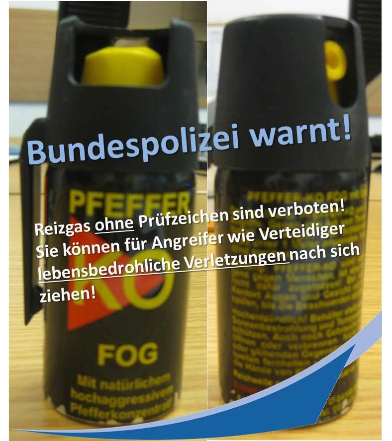 Pfefferspray, © Foto: Bundespolizei