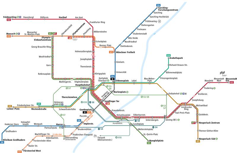MVG / MVV U-Bahn Netz München