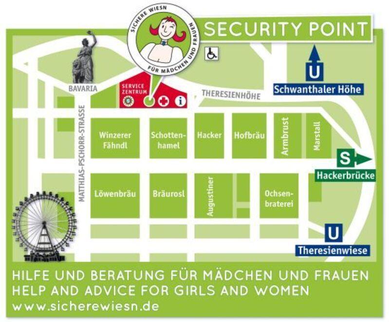Anlaufstellen für Sicherheit Oktoberfest 2014