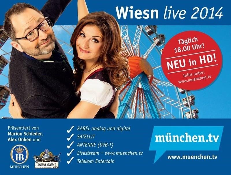 Flyer zur Wiesn-Sendung Oktoberfest live 2014