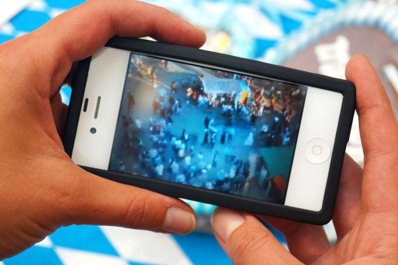 webcam oktoberfest wiesn auf dem smartphone
