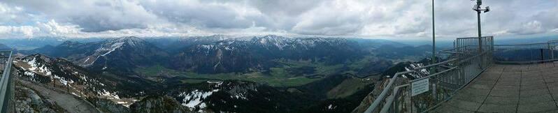 Panorama Aussicht vom Wendelstein aus., © Wer will bei so einer Aussicht nicht Wandern gehen?