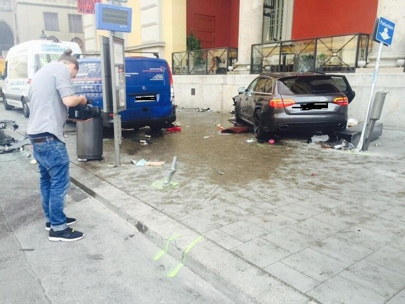 Verwüstung nach dem tragischen Unfall an der Staatsoper in München , © Verwüstung nach dem tragischen Unfall an der Staatsoper in München
