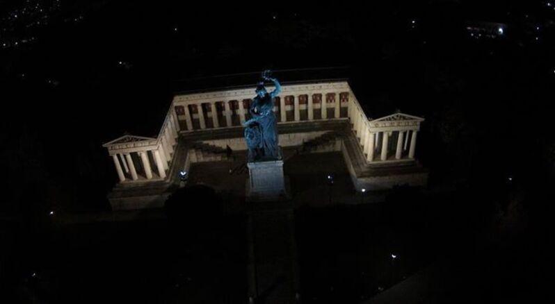 Bavaria von oben bei Nacht