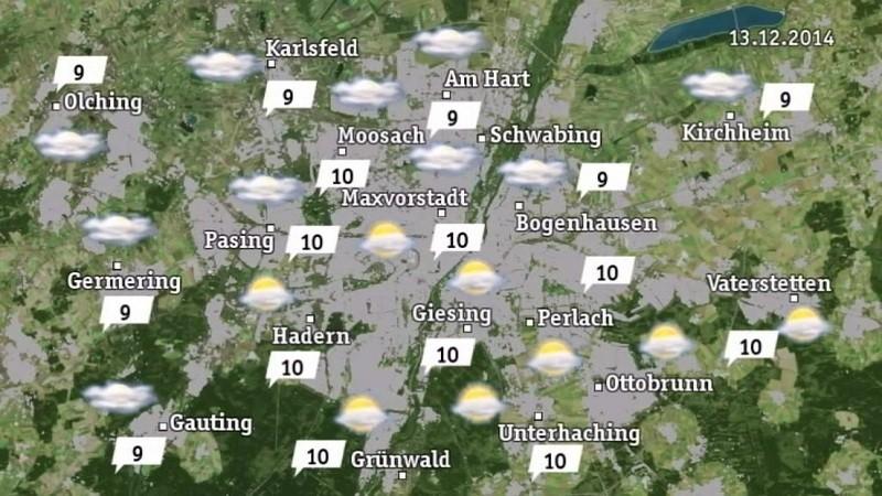 Hier finden Sie die aktuellen Wetteraussichten für München und Oberbayern