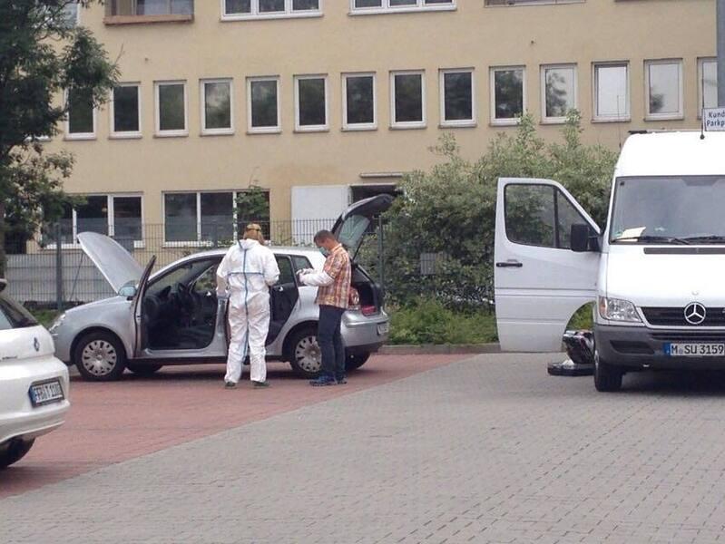 Spurensicherung am Lidl-Parkplatz, © Spurensicherung am Lidl-Parkplatz