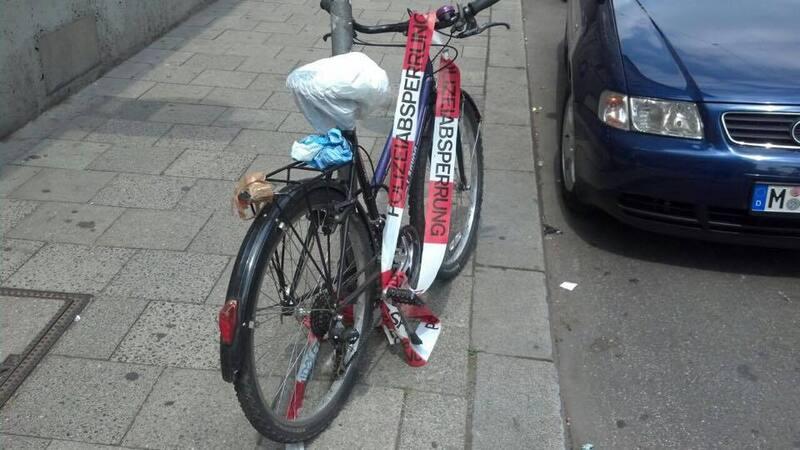 Unfall mit Fahrrad in München, © Das verunfallte Fahrrad