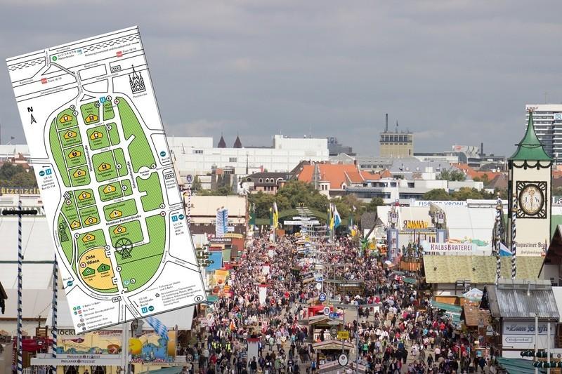 Wiesn Oktoberfest plan 2015, © Der Plan für die Wiesn 2015 steht.