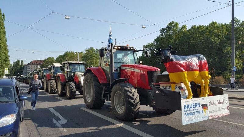 © Proteste der Milchbauern