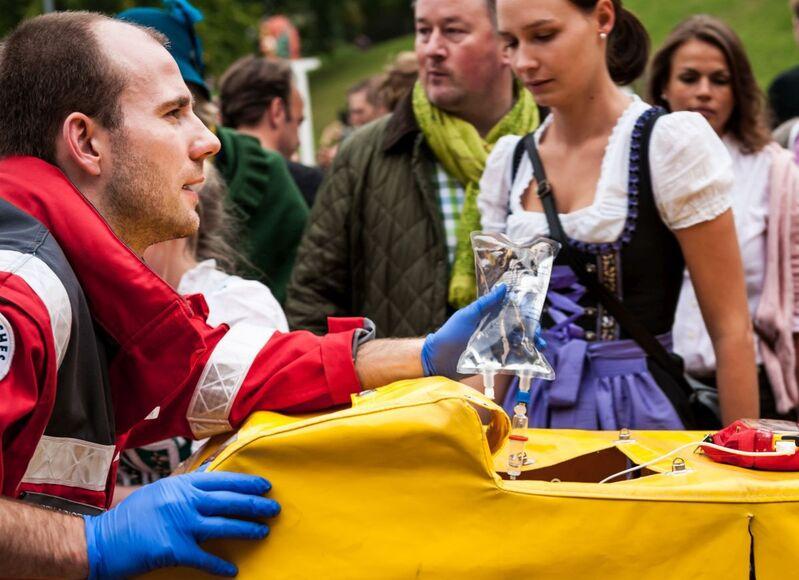 Oktoberfest Rotes Kreuz im Wiesn-Einsatz , © Foto: Milan Szypura