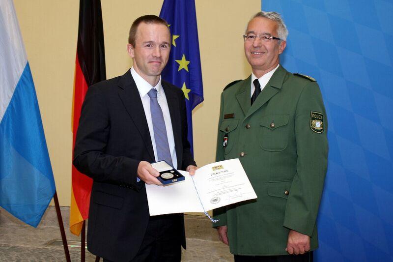 © Frank Weidemann bei der Verleihung - Foto: Bayerisches Innenministerium