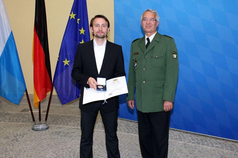 © Frank Väthjunker bei der Verleihung - Foto: Bayerisches Innenministerium