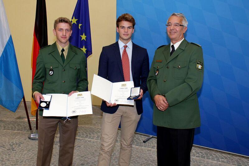 © Markus Knobloch und Nicholas Martin bei der Verleihung - Foto: Bayerisches Innenministerium