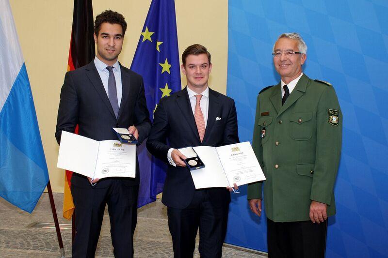 © Johannes Thierfelder und Sebastian Frost bei der Verleihung - Foto: Bayerisches Innenministerium