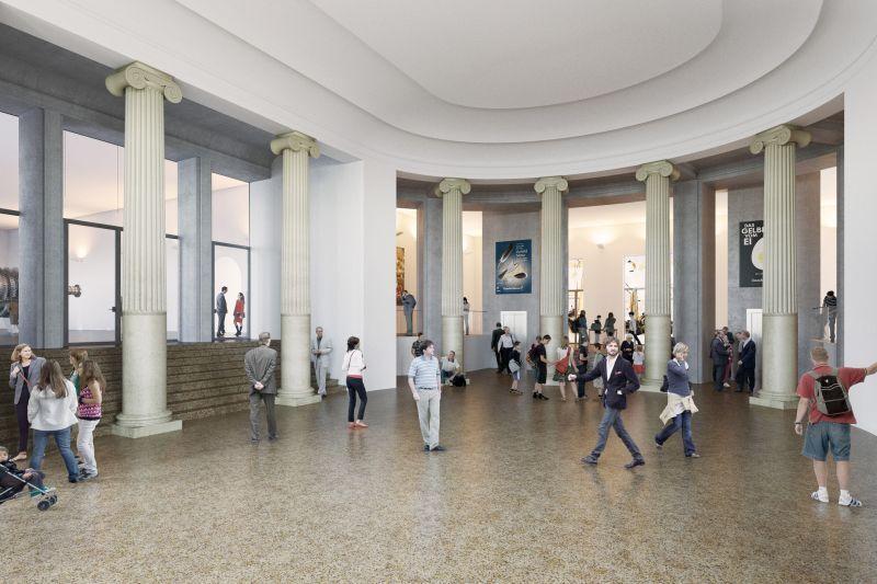 © Visualisierung der künftigen Eingangshalle des Museums - Foto: Schmidt-Schicketanz und Partner