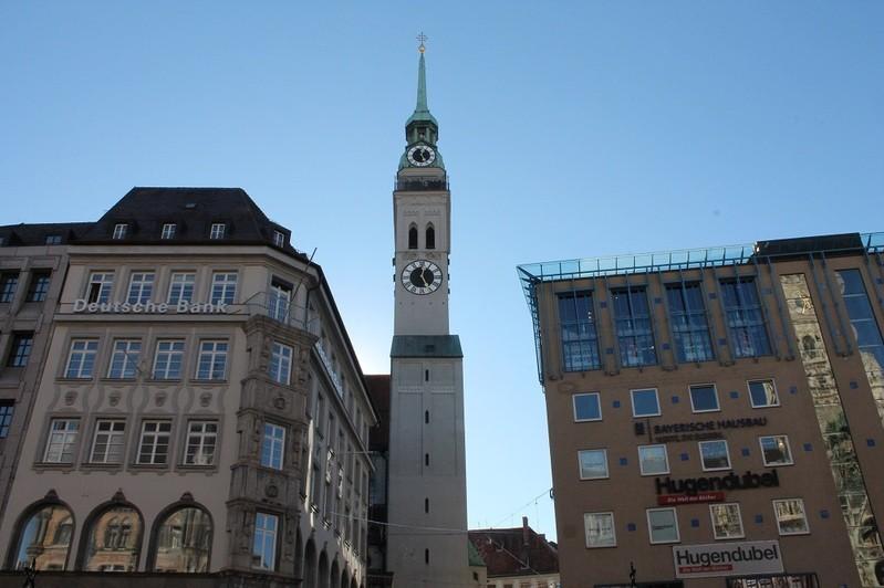 Alter Peter Turm aus Sicht von Marienplatz, © Alter Peter