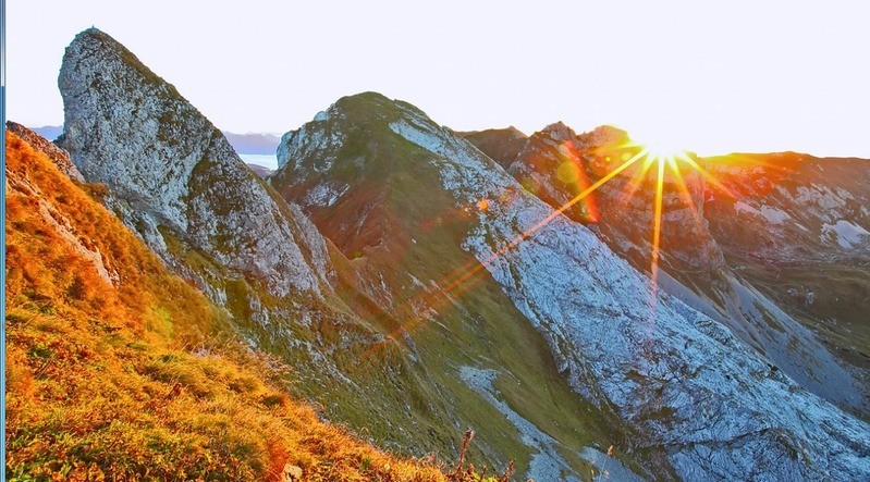 Sonne Bayern Berge