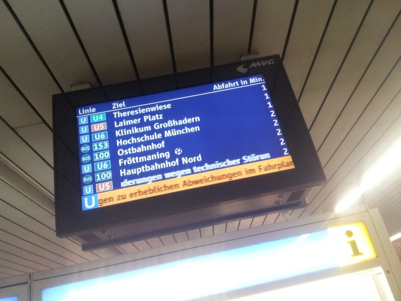 U Bahn München