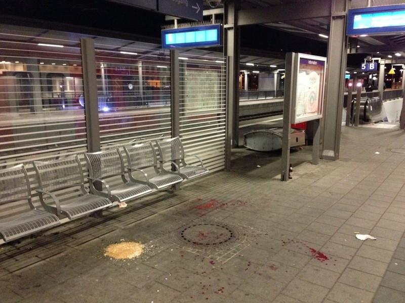 Bahnsteig des Bahnhofs Pasingnach der Gewalttat, © Bahnsteig des Bahnhofs Pasing - Foto: Polizei