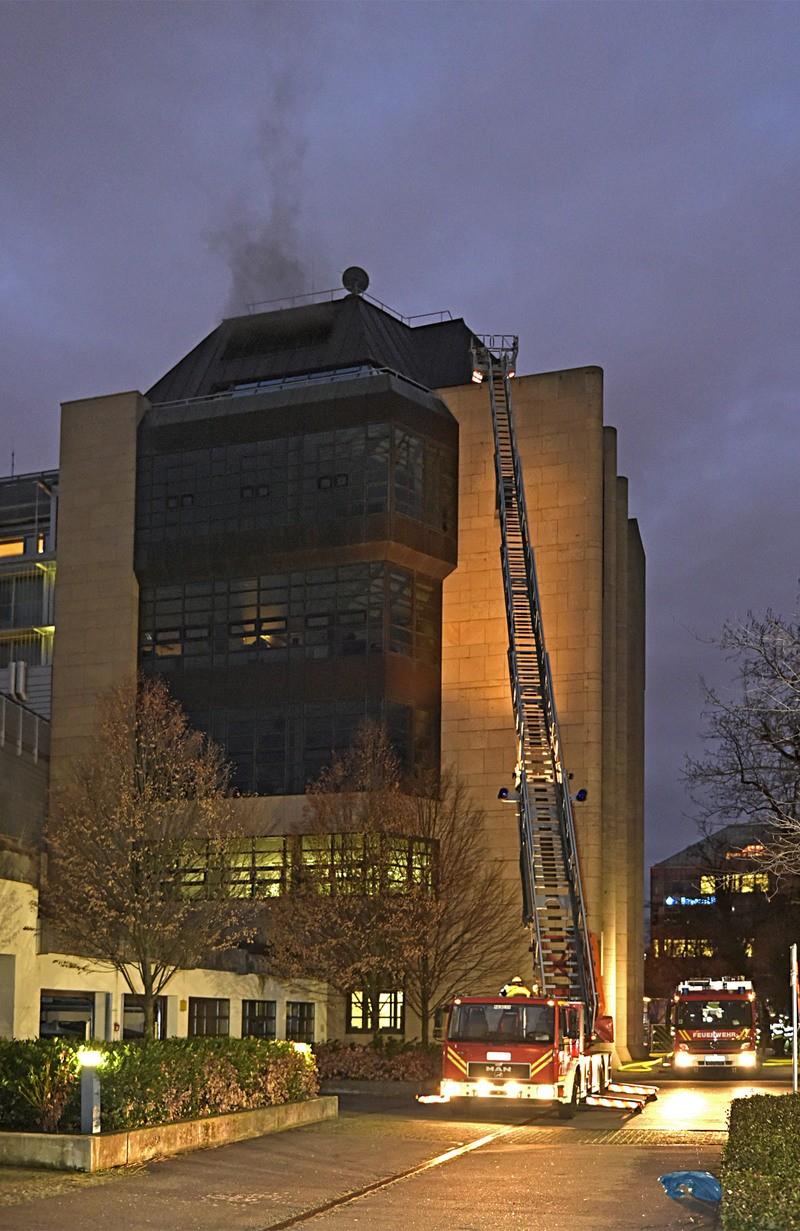 Brand Bürogebäude, © Foto: Berufsfeuerwehr München