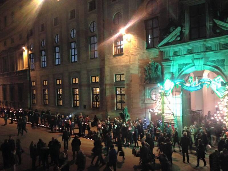 Lichterkette von München bis Berlin