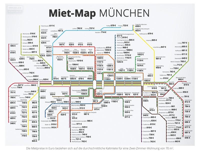 Miet_Map_Muenchen Karte, © Bild: Immobilienscout24