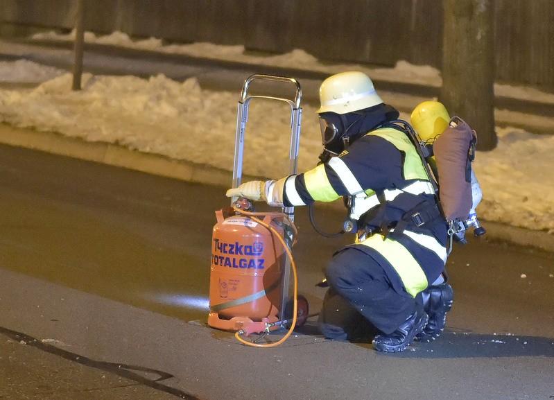 Feuerwehr Einsatz Butangas Explosionsgefahr, © Foto: Berufsfeuerwehr München