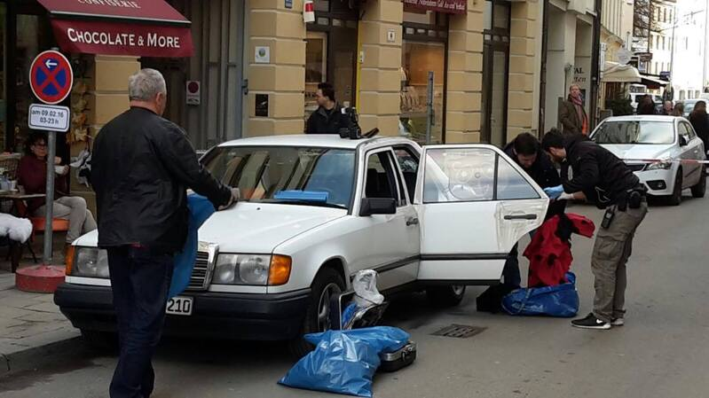 Auto Einbruch Juwelier Diebstahl, © Des gestohlene Auto mit welchem die Täter zum Tatort gefahren sind.