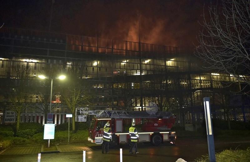 © Brand im Parkhaus in der Landsberger Straße