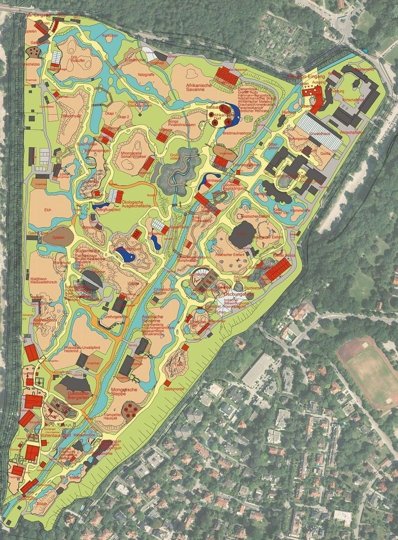 © Die Gesamtplanung des neuen Tierparkprojekts