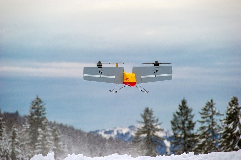 © Die Drohne wurde erfolgreich zum Ausliefern der Pakete getestet - Foto: Deutsche Post DHL