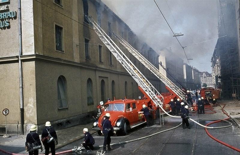 Firetage: Parade auf der Ludwigstraße, © Foto: Feuerwehr München