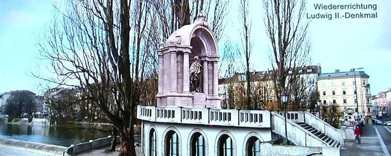 König Ludwig, Denkmal, Corneliusbrücke, Kini, © Bauplan des neuen König Ludwig ll. Denkmals