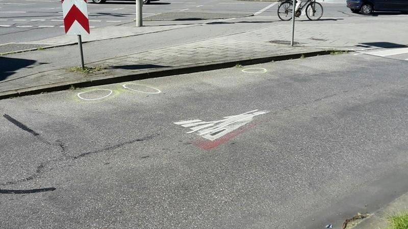 die Kreuzung an der Dachauer Straße, an der sich der Unfall ereignete, © an dieser Kreuzung ereignete sich der Unfall