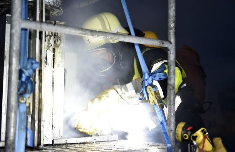 Brand einer Imbissbude in der Landwehrstraße, © Foto: Berufsfeuerwehr München