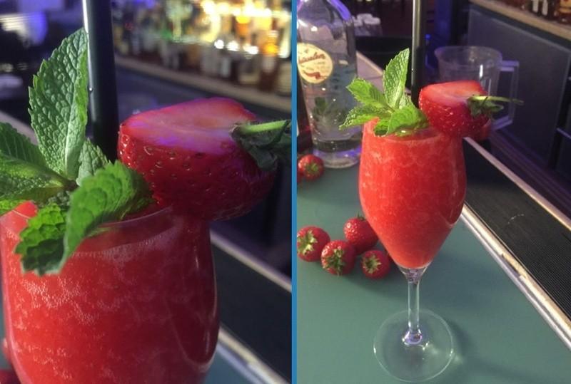 Frozen Strawberry Daiquiri mit Matusalem Platino