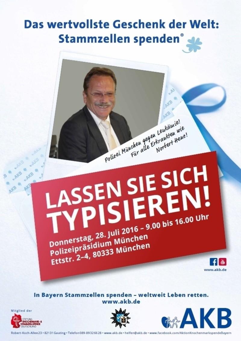 Leukämie: Polizei veranstaltet Typisierungsaktion für Kollegen, © Polizei München