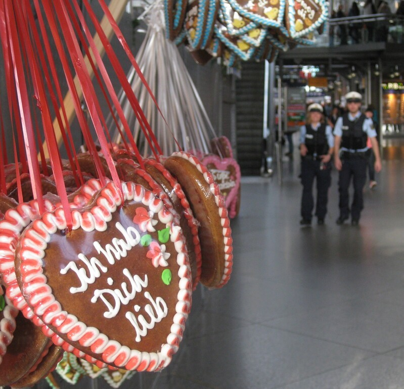 Ich hab dich lieb Herzal der Bundespolzei München, © Bild: Bundespolizei München